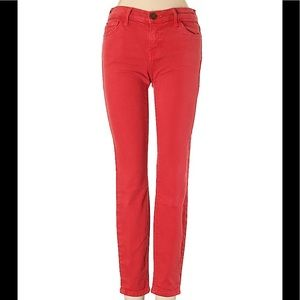 CURRENT/ELLIOTT The Stiletto Red coral jeans